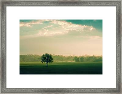 The Calm Before Framed Print by Todd Klassy