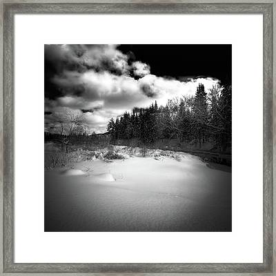 Framed Print featuring the photograph The Calm Of Winter by David Patterson