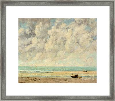 The Calm Sea, 1869  Framed Print by Gustave Courbet