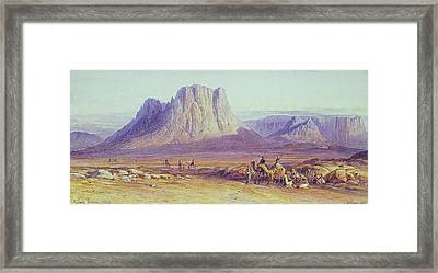 The Camel Train Framed Print by Edward Lear