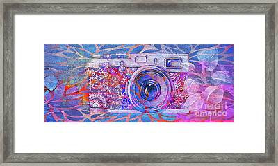 Framed Print featuring the digital art The Camera - 02c3t by Variance Collections