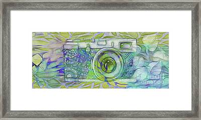 Framed Print featuring the digital art The Camera - 02c5b by Variance Collections