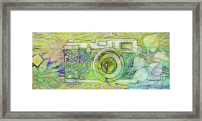 Framed Print featuring the digital art The Camera - 02c5bt by Variance Collections