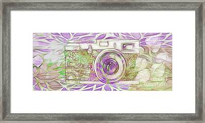 Framed Print featuring the digital art The Camera - 02c6 by Variance Collections