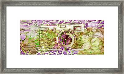 Framed Print featuring the digital art The Camera - 02c6t by Variance Collections