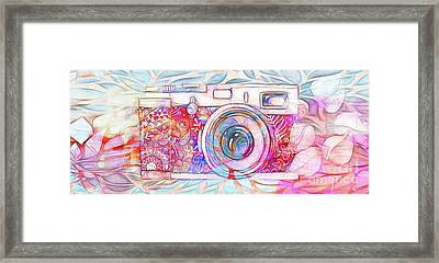 Framed Print featuring the digital art The Camera - 02c8v2 by Variance Collections