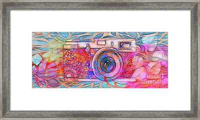 Framed Print featuring the digital art The Camera - 02v2 by Variance Collections