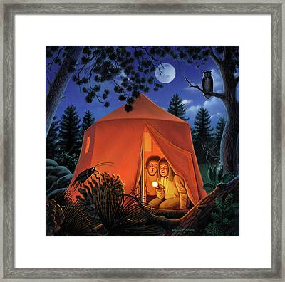 The Campout Framed Print