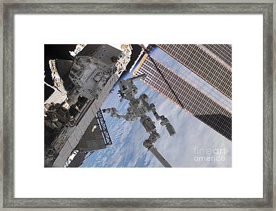 The Canadian-built Dextre Robotic Framed Print