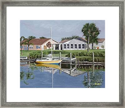 The Canal Awakens Framed Print by Sodi Griffin