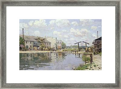 The Canal Saint Martin Paris Framed Print by Alfred Sisley