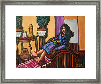 The Candle And The Statue Framed Print by Albert  Almondia