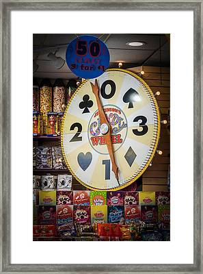 The Candy Wheel Point Pleasant Boardwalk Framed Print by Terry DeLuco