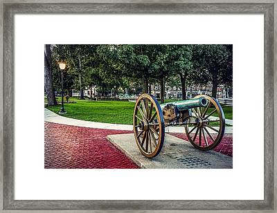 The Cannon In The Park Framed Print