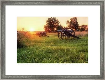 The Cannons Of Pea Ridge - Arkansas - Civil War Framed Print