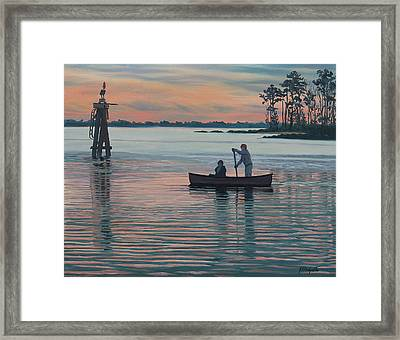 The Canoers Framed Print