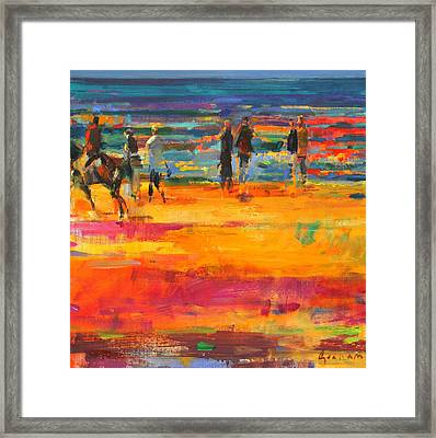 The Canter  Paris Plage Framed Print by Peter Graham