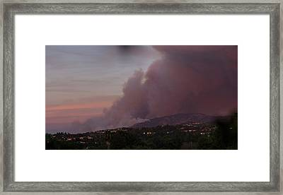 The Canyon Fire Framed Print by Angela A Stanton