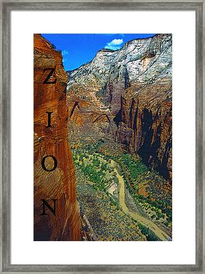 The Canyon Of Zion Framed Print by David Lee Thompson