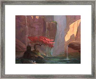 Framed Print featuring the digital art The Canyon by Steve Goad