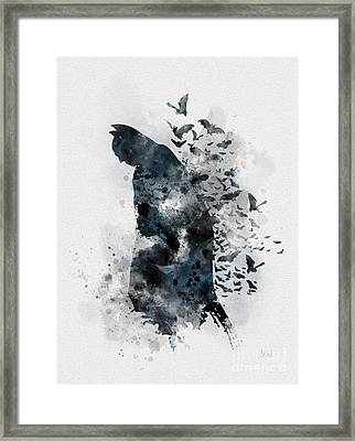 The Caped Crusader Framed Print by Rebecca Jenkins