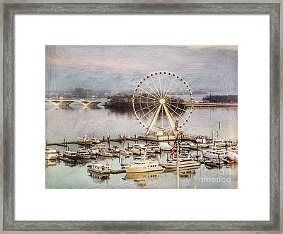 The Capital Wheel At National Harbor Framed Print