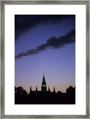 The Capitol Buildings Silhouetted Framed Print by Taylor S. Kennedy