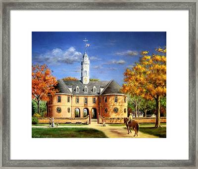 The Capitol In Autumn Framed Print by Gulay Berryman