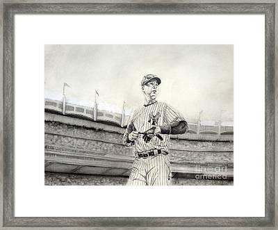 The Captain - Derek Jeter Framed Print by Chris Volpe