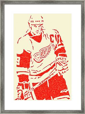 The Captain - Steve Yzerman Framed Print