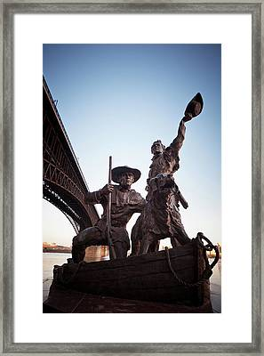 Framed Print featuring the photograph The Captain Returns by David Coblitz