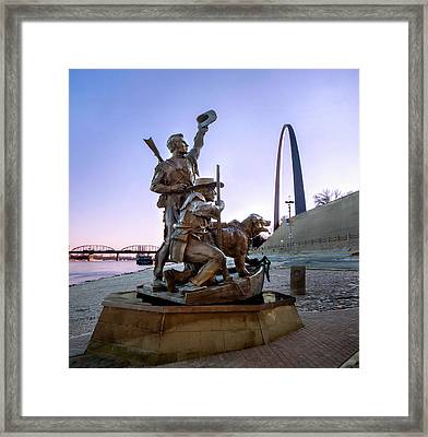 Framed Print featuring the photograph The Captain Returns With Arch by David Coblitz