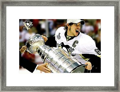 the Captain, Sidney Crosby, Pittsburg Penguins, number 87 Framed Print