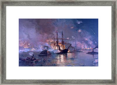 The Capture Of New Orleans During The Civil War Framed Print by American School