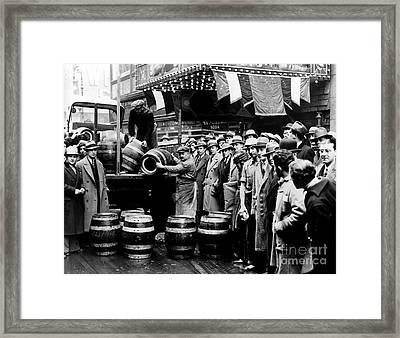 The Captured Beer Framed Print by Jon Neidert