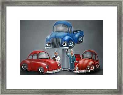 The Car Hospital Framed Print by Ofelia  Arreola