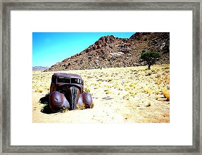 Framed Print featuring the photograph The Car by Riana Van Staden