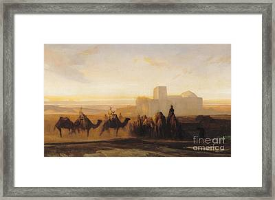 The Caravan Framed Print by Alexandre Gabriel Decamps