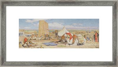 The Caravan, An Arab Encampment At Edfou Framed Print