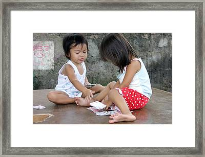 The Card Players 2 Framed Print by Jez C Self