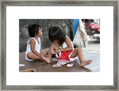 The Card Players 4 Framed Print by Jez C Self