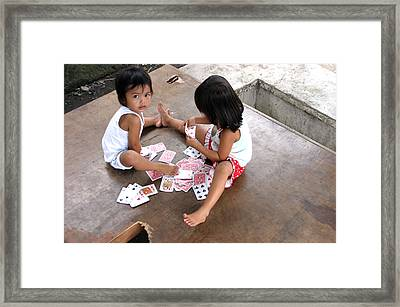 The Card Players 5 Framed Print by Jez C Self