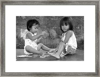 The Card Players 6 Framed Print by Jez C Self