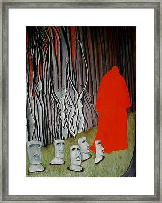 The Cardinal Framed Print by Georgette Backs