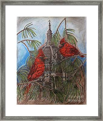 The Cardinals Visit St.pauls Cathedral Framed Print by Kim Jones