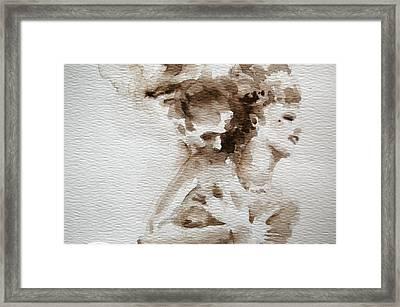 The Caress Framed Print by Jea DeVoe