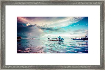 The Caribbean Morning Framed Print