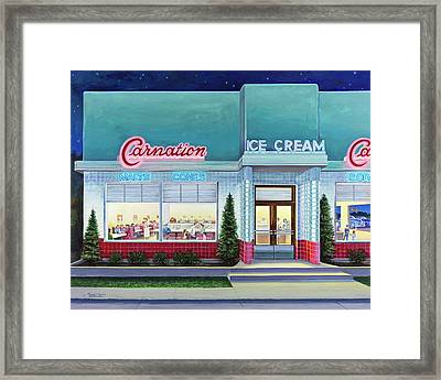 The Carnation Ice Cream Shop Framed Print