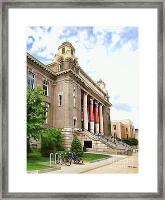 The Carnegie Library Framed Print by Debra Millet
