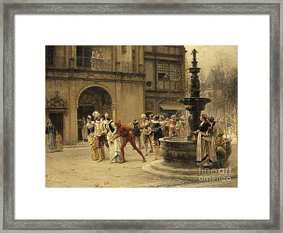 The Carnival Procession Framed Print by Adrien Moreau